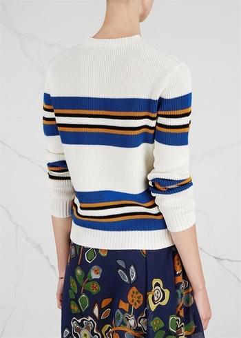 Ежедневен дамски пуловер с цветни мотиви