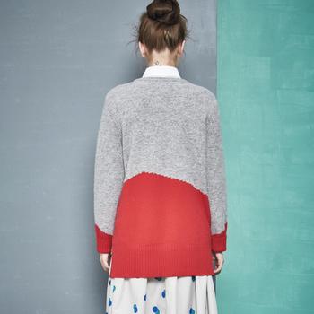 Ежедневен дамски пуловер - дълъг и в свободен стил