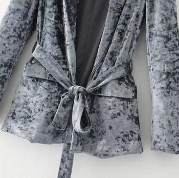 Γυναικείο σπορ-κομψό βελούδινο παλτό