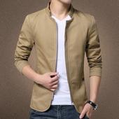 Тънко мъжко яке в четири цвята и в семпъл дизайн