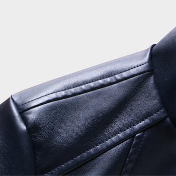 Ανδρικό δερμάτινο μπουφάν  σε τρία χρώματα