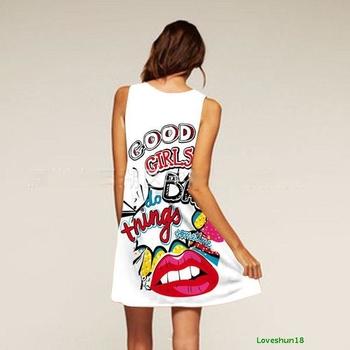 Спортно-елегантна дамска рокля с изображения