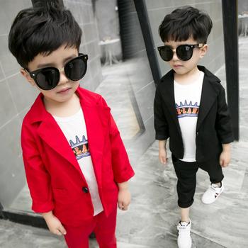 6509467d4bb Παιδικό κομψό σακάκι για αγόρια σε κόκκινο και μαύρο χρώμα - Badu.gr ...