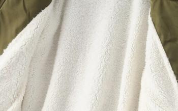 Γυναικείο μπουφάν  με τσέπες και μάλλινη φόδρα
