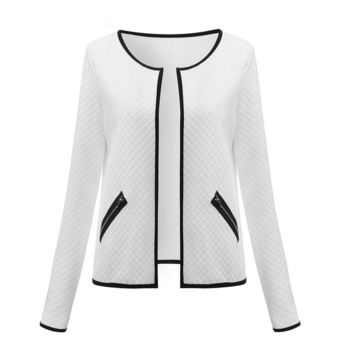 Γυναικείο αθλητικό κομψό σακάκι με γιακάς σε  σχήμα O