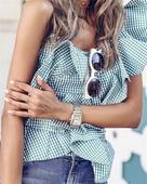 Много интересна ежедневна дамска блуза с 1 ръкав