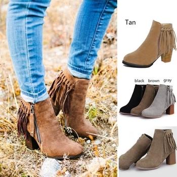 901b4403296 Βελούδιες γυναικείες μπότες με κορδόνι και φερμουάρ + ψηλό χοντρό τακούνι-  4 χρώματα