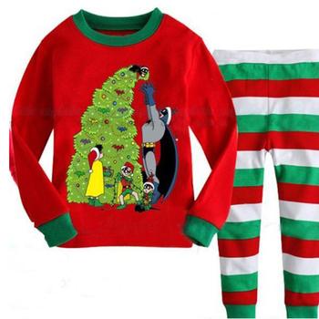 Сладка детска пижама с анимационно изображение от две части - блуза + панталон