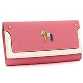 Сладък дамски портфейл в много цветове с метална декорация