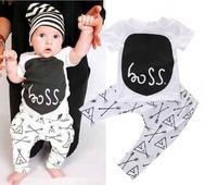 """Бебешки  сладък костюм с надпис """"boss"""""""