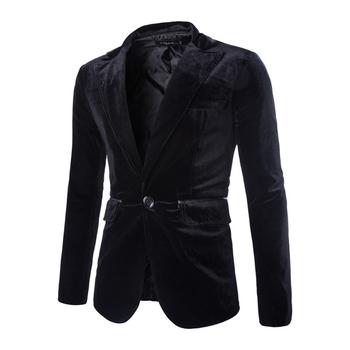 Елегантно мъжко сако от кадифе в три цвята