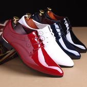 Лачени мъжки официални обувки в четири цвята