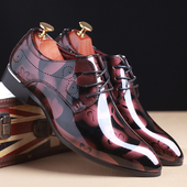 Красиви официални обувки за мъжете в четири разцетки