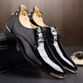 Кожени официални мъжки обувки в три цвята