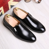 Официални мъжки обувки тип мокасини в три цвята