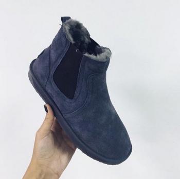 Ζεστές γυναικείες μπότες σε μπλε, μαύρο και καφέ