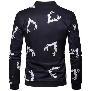 Λεπτό ανδρικό μπουφάν για το  φθινόπωρο  σε μαύρο χρώμα