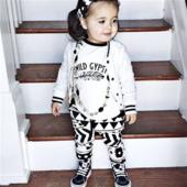 Детски комплект за момичета - тениска + панталон с орнаменти