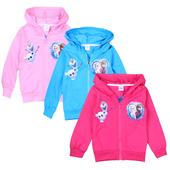 Анимационен детски суичър за момичета с качулка, в три цвята