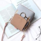 Ръчна дамска мини чантичка с дълга дръжка за през рамо - 4 модела
