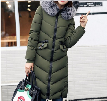 Много топло и изключително стилно дамско дълго яке с красив пух по яката - 6 цвята