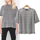 Семпла дамска блуза за дамите в големи размери в широк модел, подходяща за ежедневие