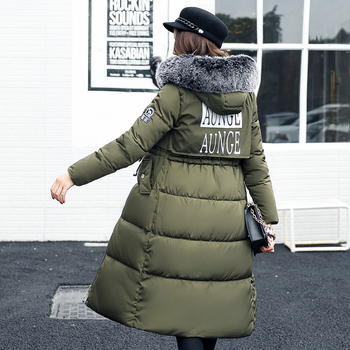 Χειμερινό μακρύ γυναικείο μπουφάν  με κουκούλα και χνούδι σε πολλά χρώματα