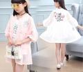 Детски комплект за момичета - ветровка в два цвята + тениска, подходящи за ежедневие