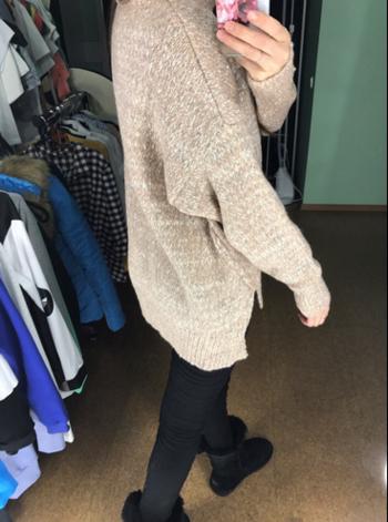 Дамски топъл пуловер с висока яка