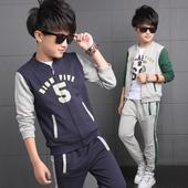 Спортен детски екип за момчета - суичър + панталон в два цвята