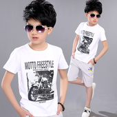 Ежедневна детска тениска за момчета с изображение в три цвята