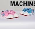 Сладки детски кецове за момичета с лепенки в розов и син цвят