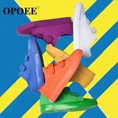 Спортно-елегантни детски кецове за момичета и момчета с лепенки в семпъл модел и в много цветове