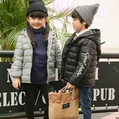 Зимно детско яке с качулка за момичета и момчета с пълнеж от гъши пух в няколко цвята