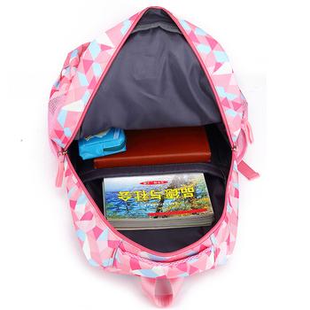 Цветна детска раница за момичета в три цвята и много джобове