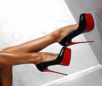 Вечерни дамски много стилни обувки на 16см висок ток 3-модела