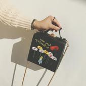Стилна дамска чантичка тип мини куфарче с дълга дръжка през рамо - 4 модела