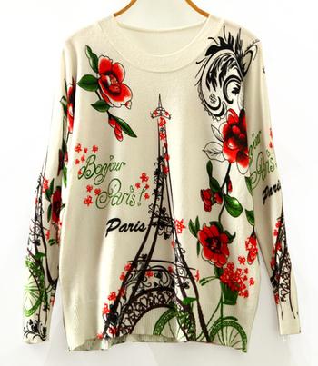 Много интересен шарен дамски пуловер - 10 модела