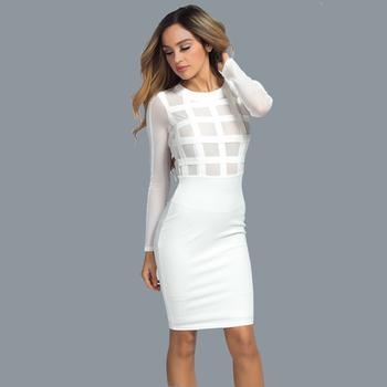 f1f14b6207f0 Κομψό και σέξι γυναικείο φόρεμα σε λευκό και μαύρο χρώμα - Badu.gr Ο ...
