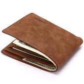 Елегантен велурен мъжки портфейл