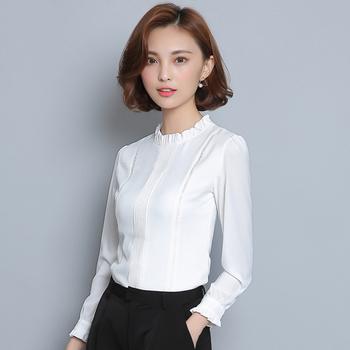 f603553d427 Елегантна дамска риза с О-образна ниска яка и дълъг ръкав - Badu.bg ...