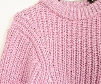 Дамски ежедневен пуловер с О-образна яка - 2 цвята