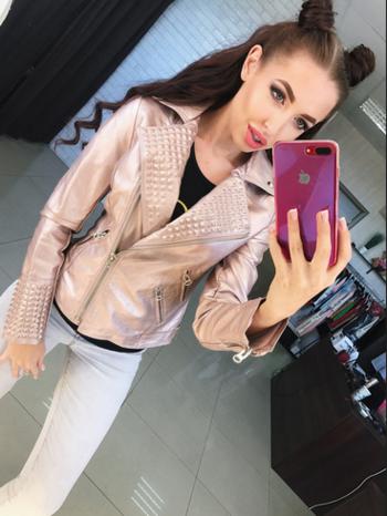 Γυναικείο μπουφάν με διακοσμητικά φερμουάρ - 4 χρώματα