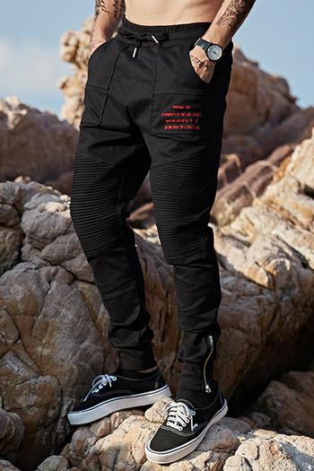 Спортно-елегантен панталон за мъжете тип Слим в черен цвят