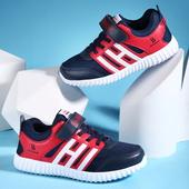 Детски маратонки за момчета с лепенки в три разцветки, подходящи за ежедневие и спорт