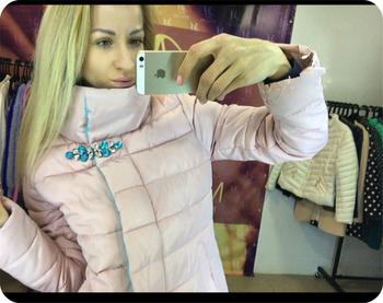 Καθημερινό και πολύ άνετο γυναικείο μπουφάν με ενδιαφέρον λαμπερά μαργαριτάρια - 5 χρώματα
