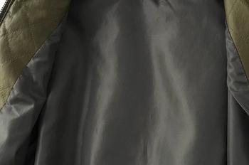 Καθημερινό γυναικείο μπουφάν με μακρύ μανίκι και κολάρο σε σχήμα O σε σύγχρονο στυλ