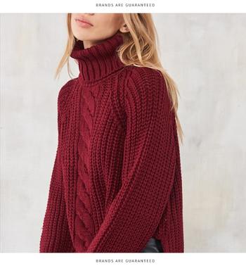 5ce2e6b7687 badu.gr - Καθημερινό ζεστό γυναικείο πουλόβερ με ψηλό γιακά