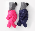 Сладък зимен детски комплект с качулка в два цвята