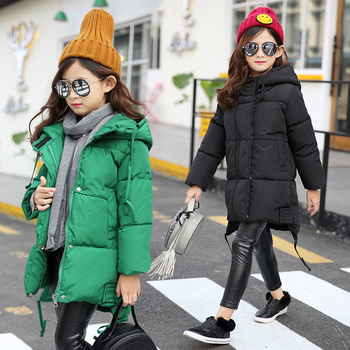 Χειμερινό παιδικό μπουφάν για αγόρια και κορίτσια με κουκούλα σε πράσινο  και μαύρο χρώμα c207a2f9b4a